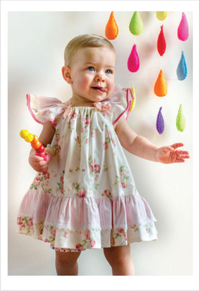 Butterfly Dress Sewing Pattern and Tutorial, includes 2 versions of the dress. Sizes 6-9 months to 10 years.