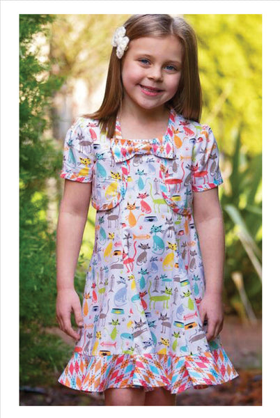 Carousel Sundress & Topper, girls dress and bolero sewing pattern sizes 3-10 years.