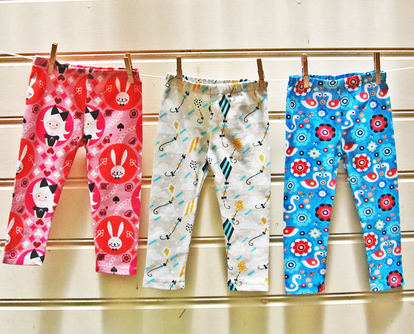 Children's Leggings sewing pattern by Felicity Sewing Patterns, sizes 1 - 12 years, suitable for boys and girls.