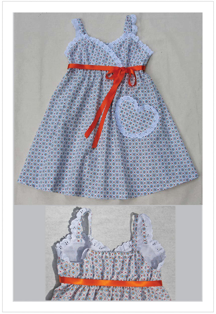 Little Cup Cake Dress sewing pattern sizes 1 - 10 years includes 2 versions - Felicity Sewing Patterns