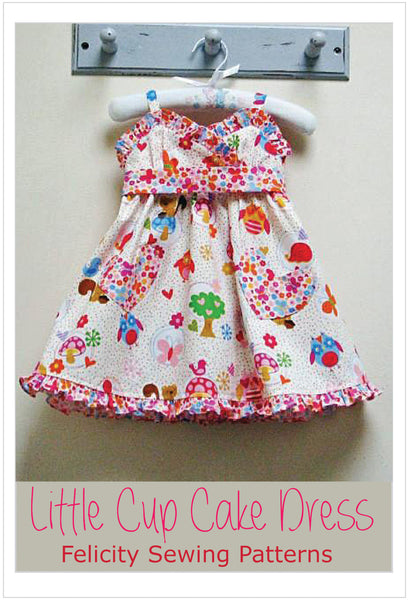 Girls sundress sewing pattern Little Cup Cake Dress sizes 1 - 10 years with 2 versions - Felicity Sewing Patterns