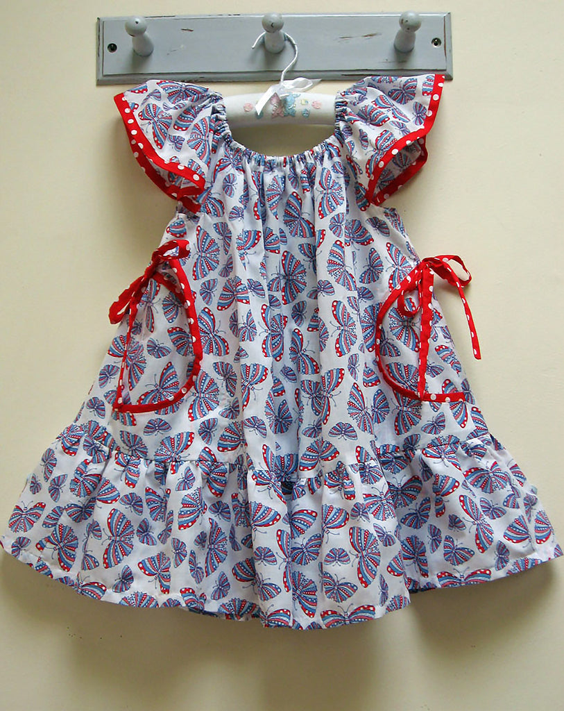 Butterfly Dress sewing pattern and tutorial, sizes 6-9 months to 10 years. - Felicity Sewing Patterns