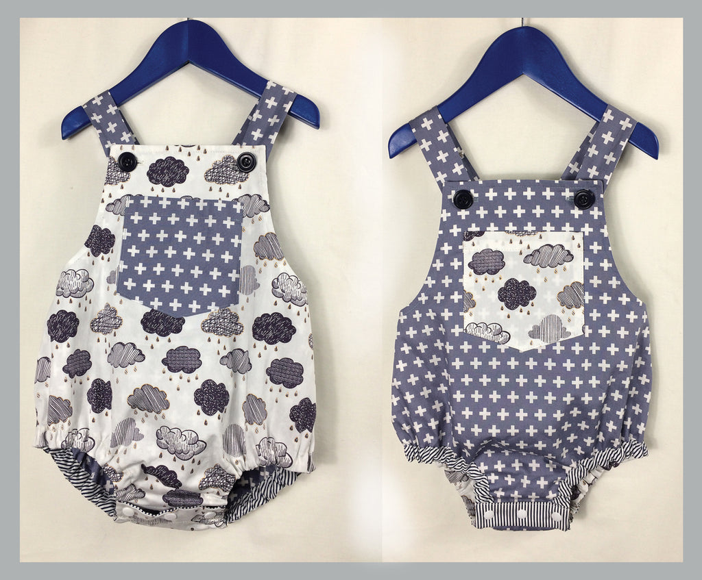 Baby Romper Pdf Sewing Pattern Dimples Baby Boy Amp Girl
