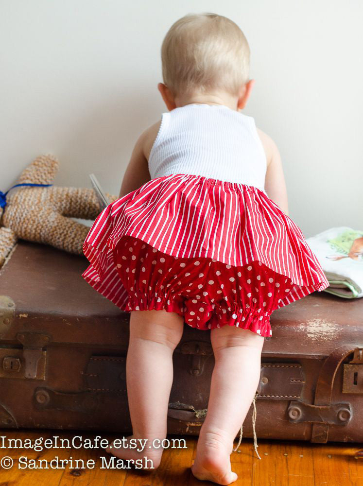 Diaper cover/bloomers baby pants sewing pattern  FANCY PANTS sizes 3 mths to 6 yrs - Felicity Sewing Patterns
