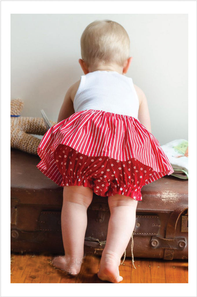 Baby bloomers/ diaper cover sewing pattern  FANCY PANTS sizes 3 mths to 6 yrs - Felicity Sewing Patterns