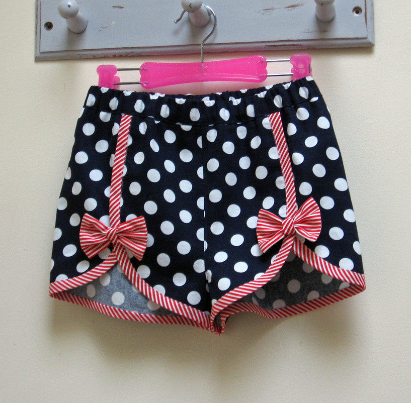 Cute girls shorts pdf sewing pattern Gidget Shorts sizes 2 to 14 years. - Felicity Sewing Patterns