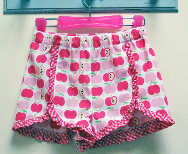 Gidget Shorts pdf sewing pattern with ruffle trim by Felicity Sewing Patterns