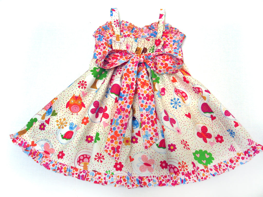 Little Cup Cake Dress pdf sewing pattern sizes 1 - 10 years includes 2 versions - Felicity Sewing Patterns