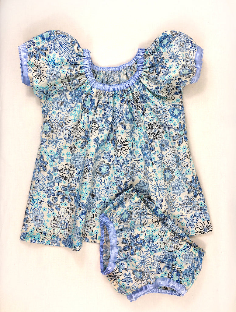 Easy baby and girl pdf dress pattern SWEET PEA sizes 6 months -10 years, with baby pants - Felicity Sewing Patterns