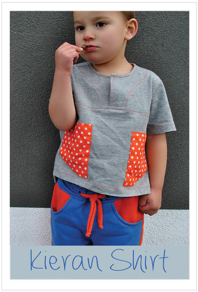 Kieran Shirt sizes 2 - 12 years, casual summer shirt sewing pattern. - Felicity Sewing Patterns