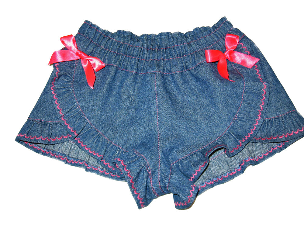 Girls ruffle edged shorts pdf sewing pattern RUFFLED SHORTS sizes 2 - 12 years. - Felicity Sewing Patterns