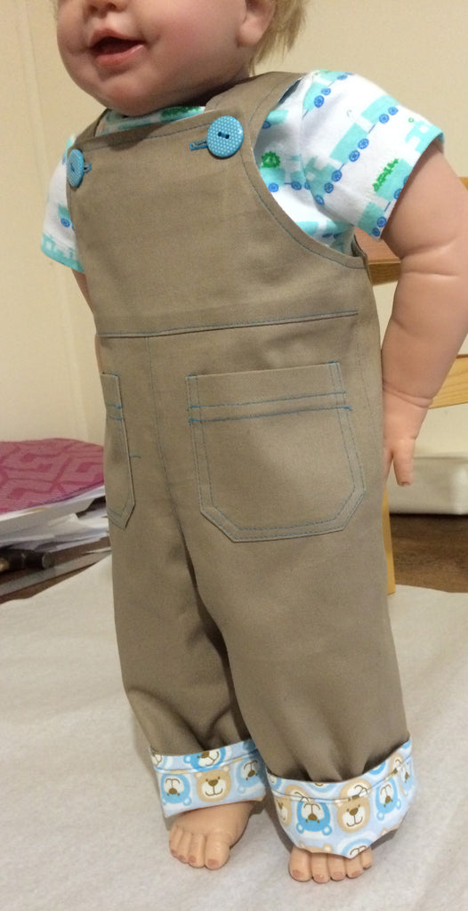sewing pattern for baby boy overalls by Felicity Sewing Patterns