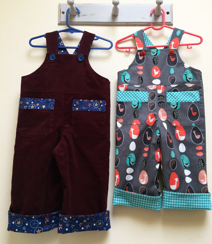 Adorable Baby Boys Overalls/Shortalls OLLIE OVERALLS Sizes to fit 3+months to 4 years - Felicity Sewing Patterns