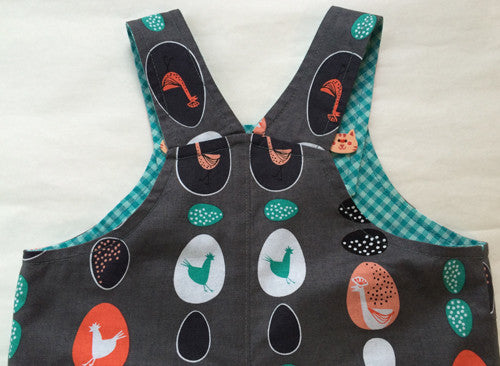 baby boy sewing pattern romper/overalls by Felicity Patterns