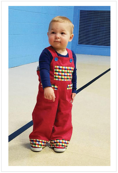 Cute Baby Boys Overalls/Shortalls pdf sewing pattern OLLIE OVERALLS Sizes to fit 3+months to 4 years - Felicity Sewing Patterns