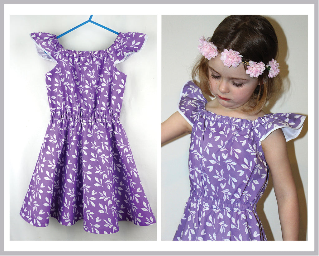 SALE COUPON! Girls summer dress & romper sewing pattern Peachy Dress & Playsuit sizes 2-14 years - Felicity Sewing Patterns