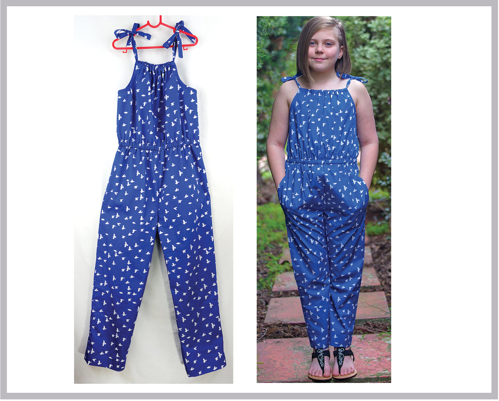 Tots to teens dress & romper sewing pattern Peachy Dress & Playsuit sizes 2-14 years - Felicity Sewing Patterns