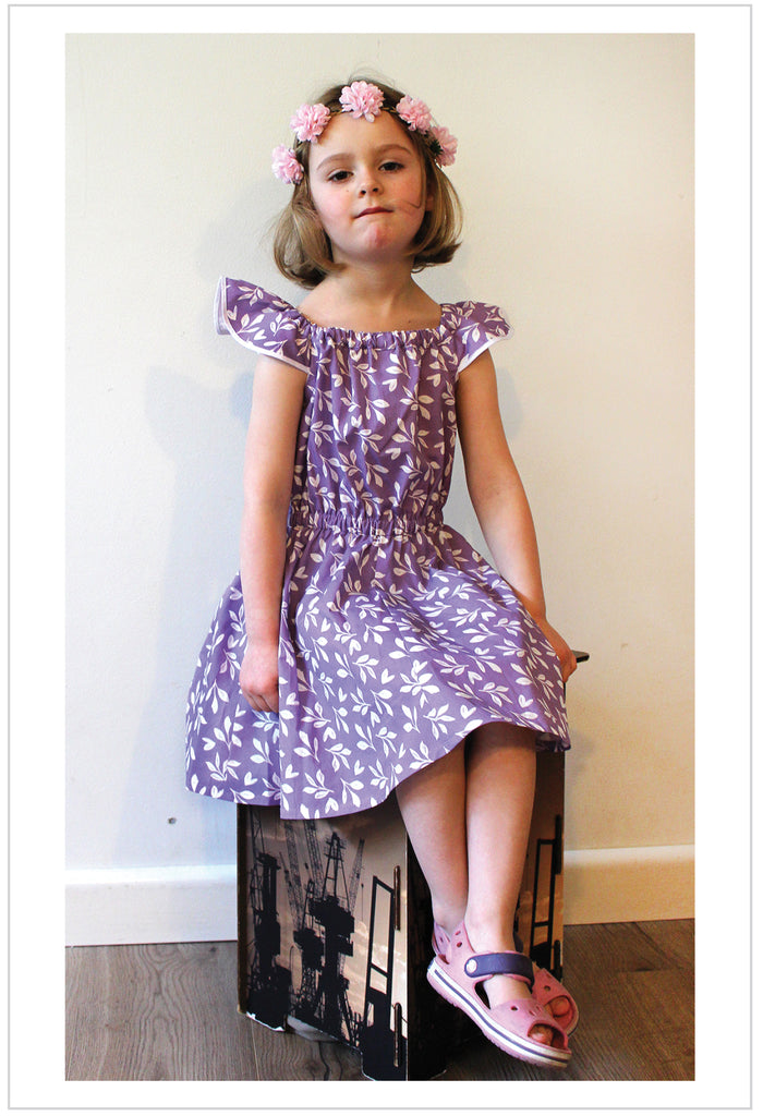 SALE COUPON! Tots to teens dress & romper sewing pattern Peachy Dress & Playsuit sizes 2-14 years - Felicity Sewing Patterns