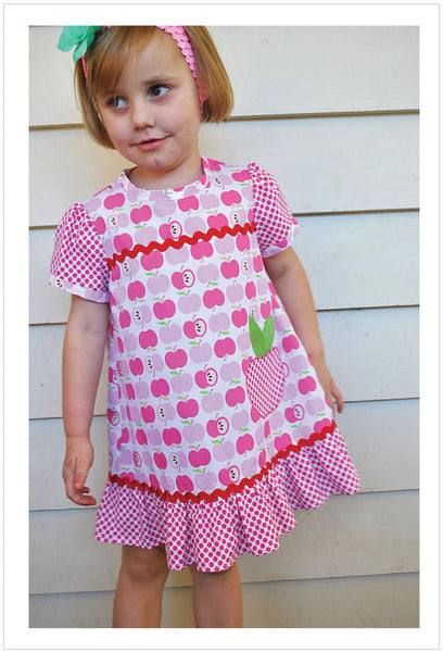 Toddler girls summer dress sewing pattern by Felicity Patterns