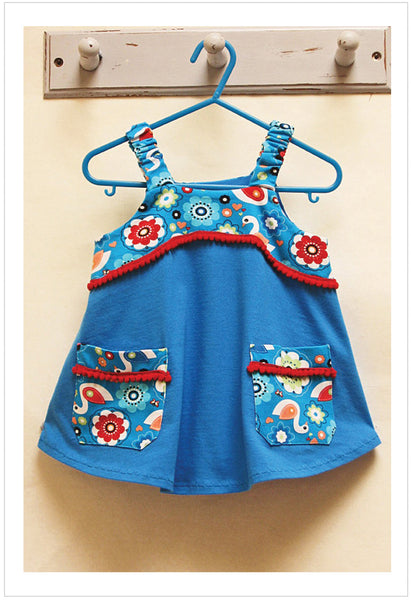 Tunic sewing pattern Baby & girls POP-OVER TUNIC sizes 1-10 years. - Felicity Sewing Patterns