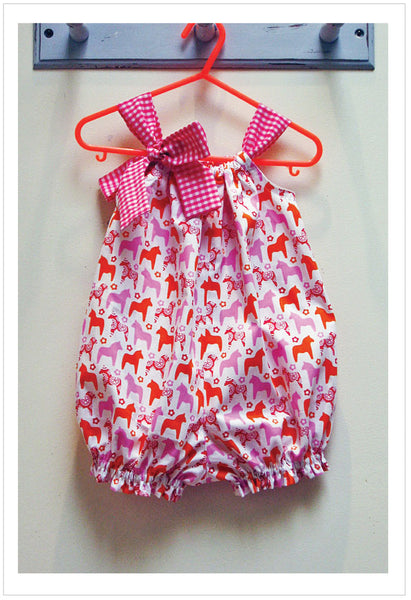 Romper pdf sewing pattern PRETTY BABY for babies & toddlers 3 months to 4 years. - Felicity Sewing Patterns