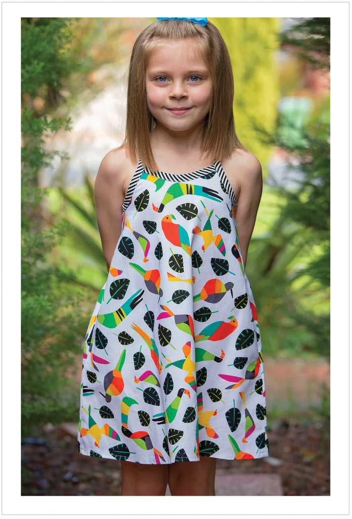 Sewing pattern girls dress & top RIO TOP & DRESS girls 4-14 years. 5 versions included. - Felicity Sewing Patterns
