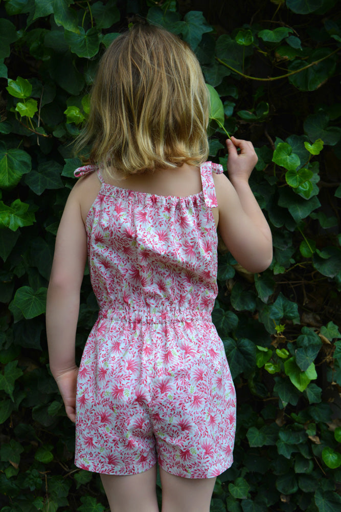 Girls summer dress & romper sewing pattern Peachy Dress & Playsuit sizes 2-14 years - Felicity Sewing Patterns