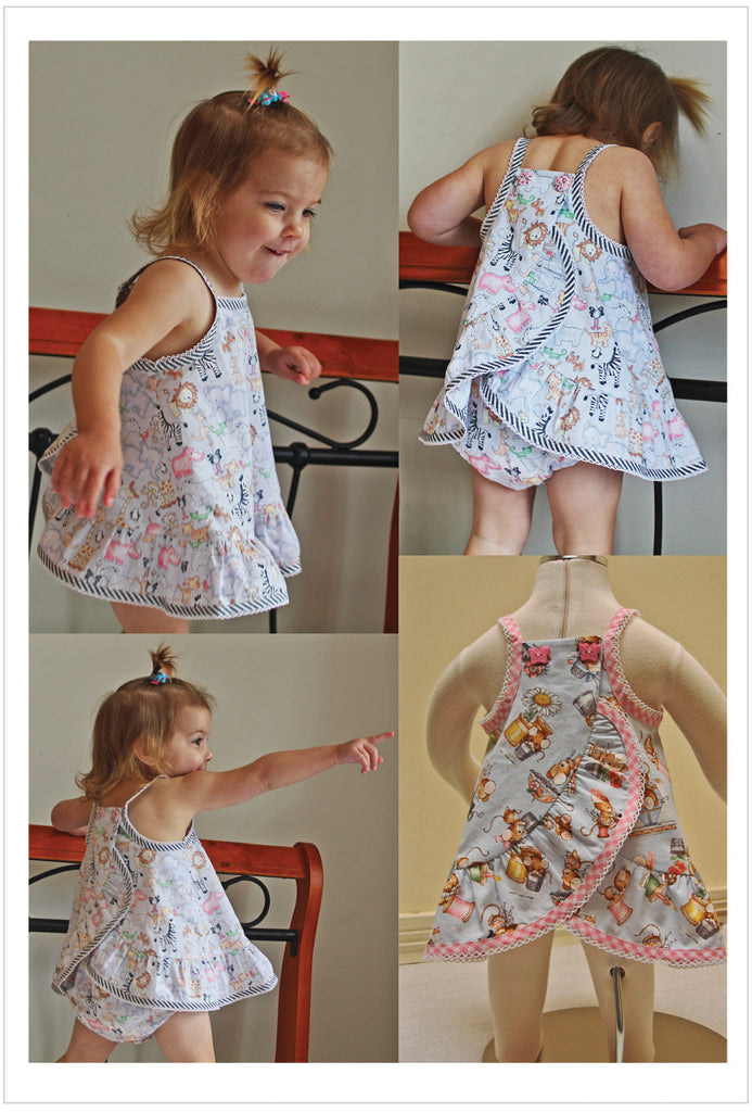 Ruffles Baby Top & Pants PDF sewing pattern babies & toddlers sizes 3 months to 6 years - Felicity Sewing Patterns