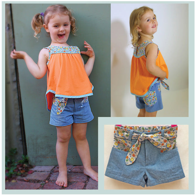 SANDY BAY SHORTS Girls stylish, fitted summer shorts sewing pattern , sizes 2 to 14 years - Felicity Sewing Patterns