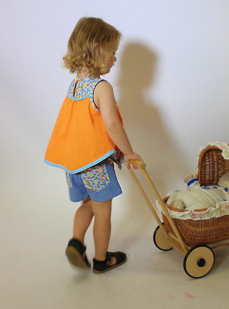 Girls summer shorts sewing pattern SANDY BAY SHORTS, sizes 2 to 14 years - Felicity Sewing Patterns