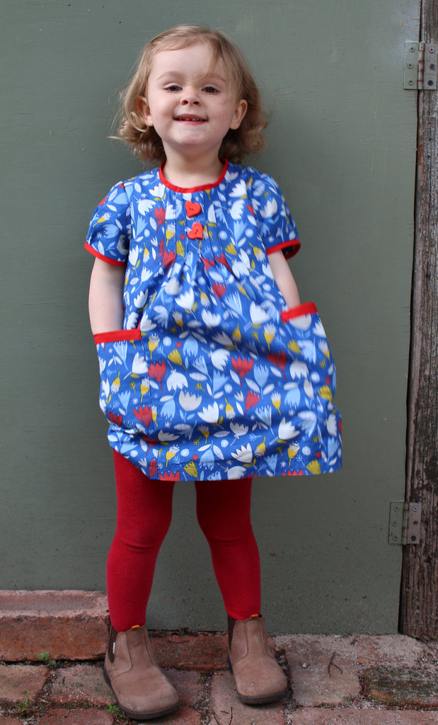 SALE COUPON! Baby and girl's dress/top PDF sewing pattern Shelley Dress & Blouse sizes 3-6 months to 8 years. - Felicity Sewing Patterns