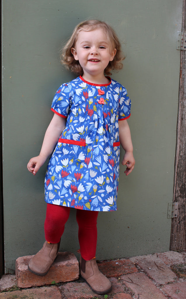 Baby and toddler girls dress sewing pattern SHELLEY DRESS by Felicity Patterns