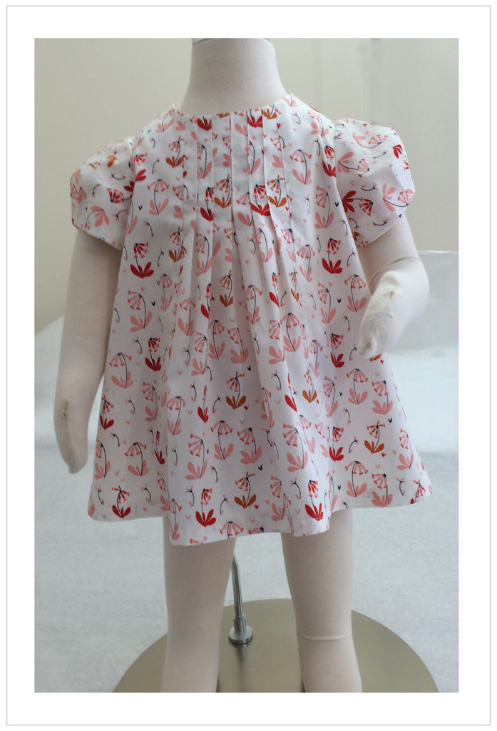 Baby and girl's dress/top sewing pattern Shelley Dress & Blouse sizes 3-6 months to 8 years. - Felicity Sewing Patterns