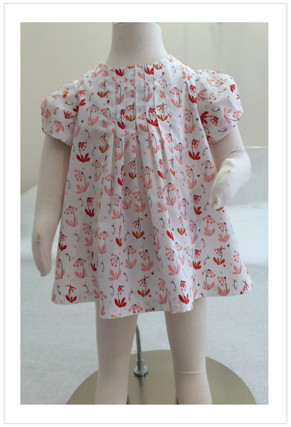 Baby and girl's dress/top PDF sewing pattern Shelley Dress & Blouse sizes 3-6 months to 8 years. - Felicity Sewing Patterns
