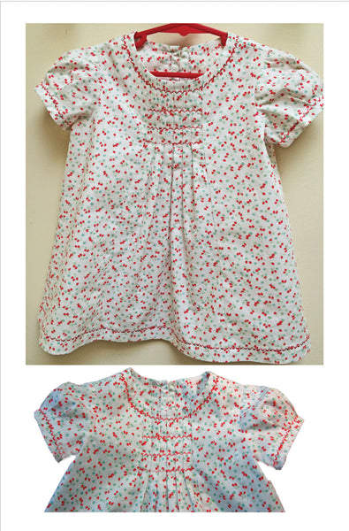 Baby and Toddler dress sewing pattern Shelley Dress & Blouse sizes 3-6 months to 8 years. - Felicity Sewing Patterns
