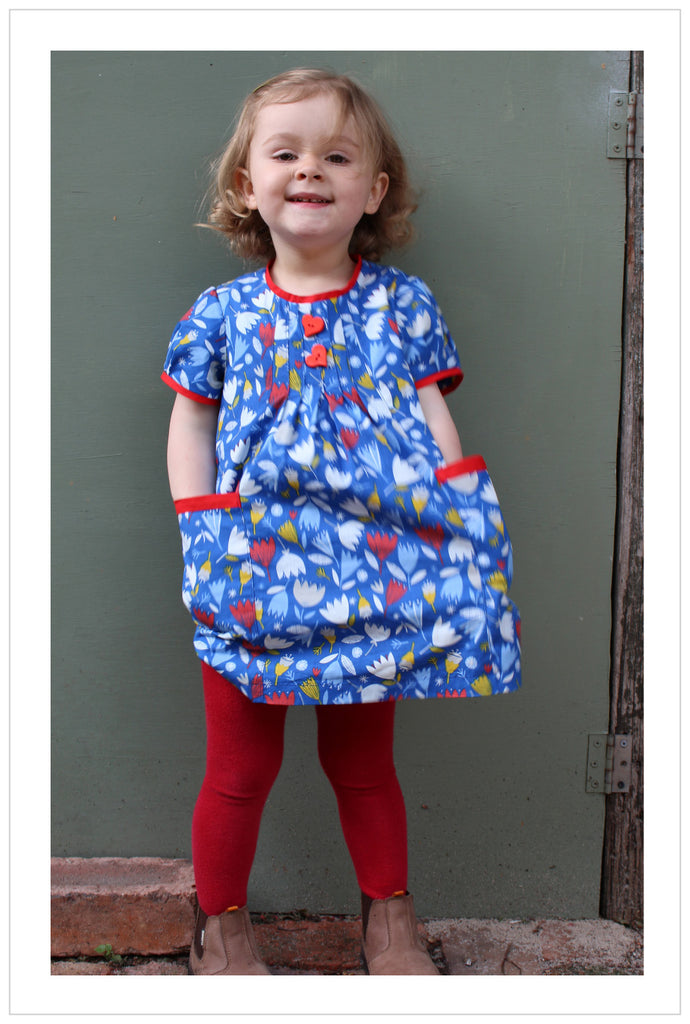 Baby & girl's dress/top sewing pattern Shelley Dress & Blouse sizes 3-6 months to 8 years.