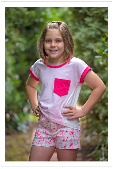 Girls T shirt sewing pattern, Sunday T Shirt, kids summer T shirt pattern sizes 2 to 14 years - Felicity Sewing Patterns