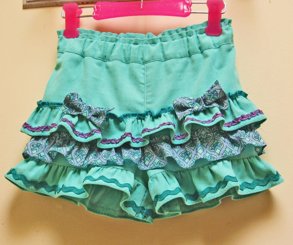 Girls frilly shorts sewing pattern SILLY FRILLY Shorts sizes 1-10 years - Felicity Sewing Patterns