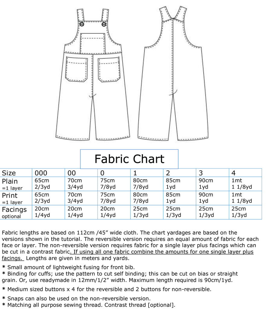 Overalls/Shortalls pdf pattern OLLIE OVERALLS Sizes to fit 3+months to 4 years - Felicity Sewing Patterns