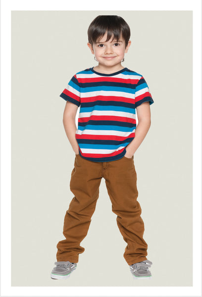 Casual boys slim fit pants sewing pattern by Felicity Sewing Patterns
