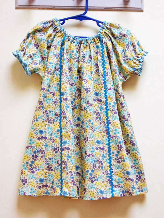 The Sweet Pea Girl's PDF Dress Pattern sizes 1 - 10 years. back view