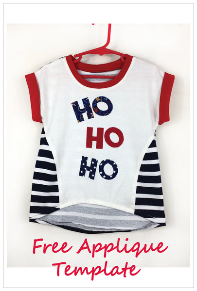 Z Christmas 'HO HO HO' applique free pattern download. - Felicity Sewing Patterns