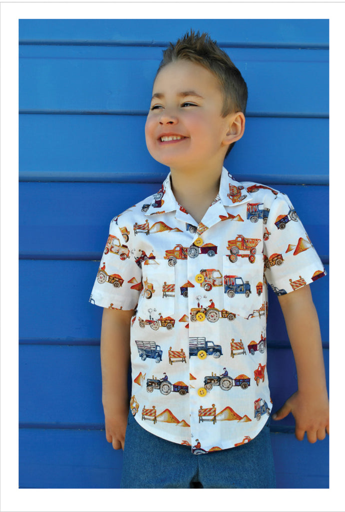 Felicity Sewing Patterns Boys Casual Shirt Sewing Pattern Thomas