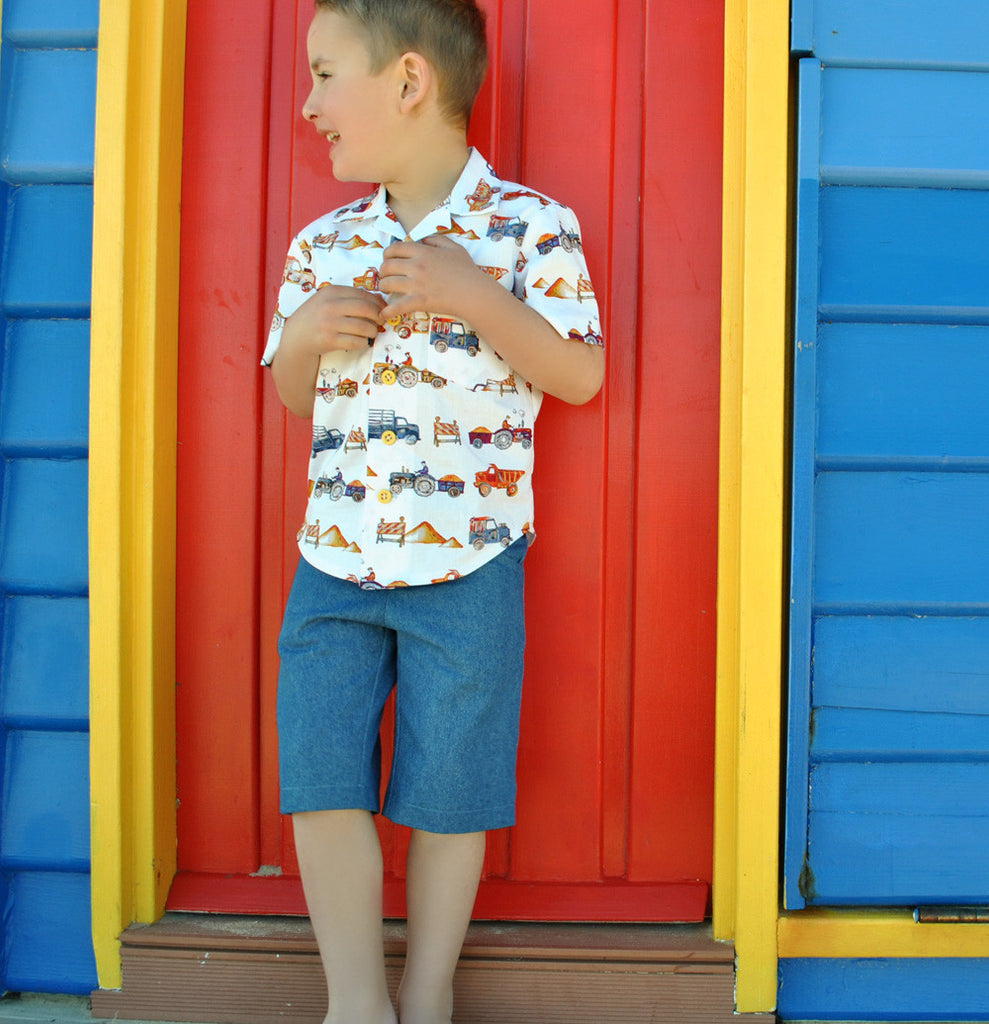 Boys summer shorts sewing pattern by Felicity Patterns