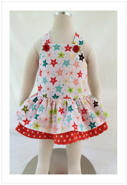 Baby & toddler girls romper pdf sewing pattern TINKERBELLE ROMPER  sizes 3 months to 3 years. - Felicity Sewing Patterns