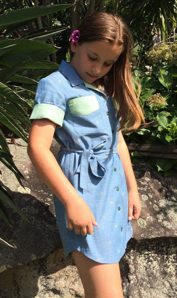 Childs shirt pdf sewing pattern for boys & girls WILLOW SHIRT  sizes 4-14 years - Felicity Sewing Patterns
