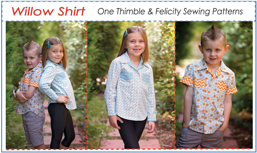 Felicity Sewing Patterns Willow Shirt for boys and girls