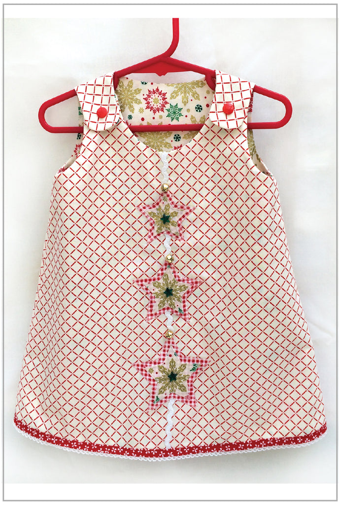 Z  Petal Reversible Dress CHRISTMAS STAR Applique -- Free Download - Felicity Sewing Patterns