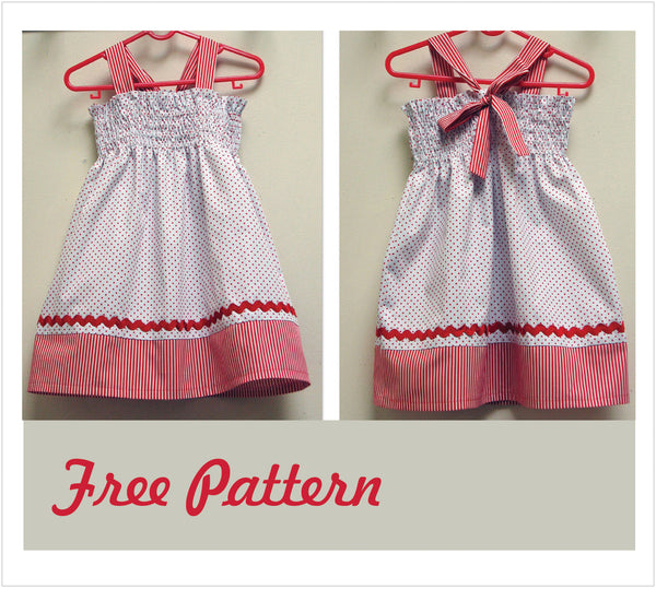 Free girls dress zigzag shirring tutorial by Felicity Patterns