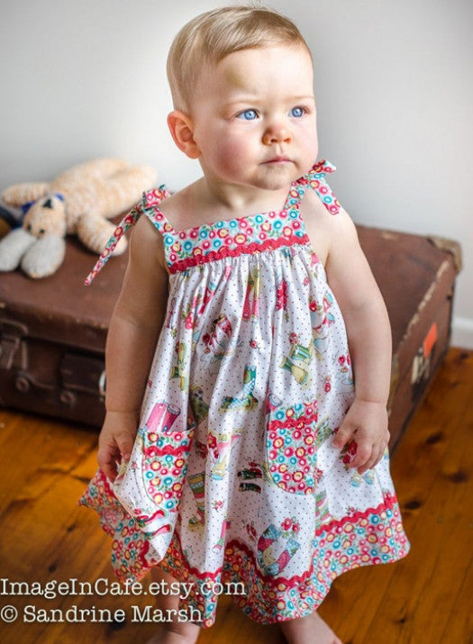 Daisy Sundress PDF Sewing Pattern version with contrast trim